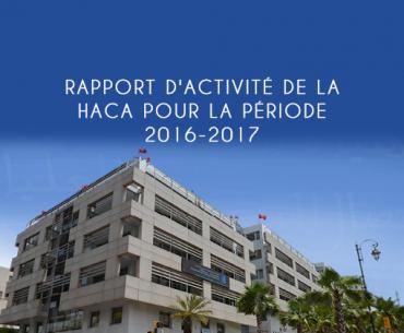 Rapport d'activité de la HACA pour la période 2016-2017