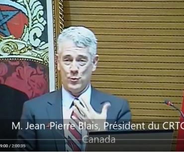 الرباط 13 أبريل 2015 عرض المدير العام للتقنين بكندا