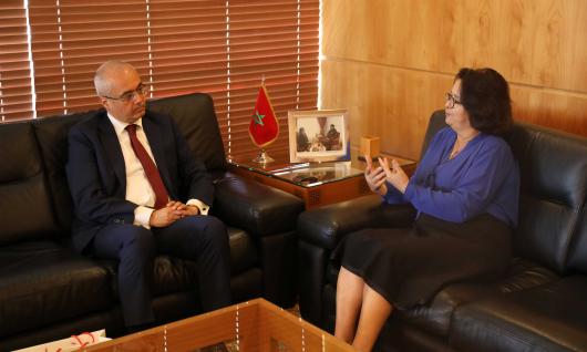 رئيسة الهيأة العليا للاتصال السمعي البصري تجري محادثات مع سفير تركيا بالمغرب