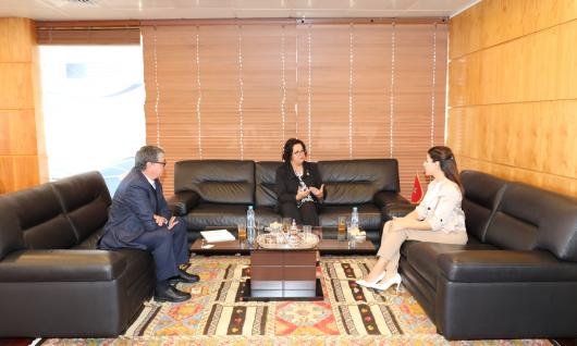 رئيسة الهيأة العليا تجرى محادثات مع المديرة التنفيذية للمرصد الوطني لحقوق الطفل