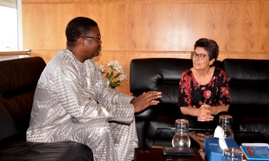 رئيسة الهيأة العليا للاتصال السمعي البصري تستقبل الرئيس الفخري للشبكة الافريقية لهيئات تقنين الاتصال