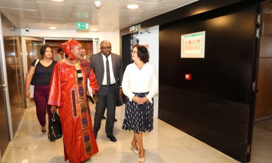 رئيسة الهيأة العليا للاتصال السمعي البصري تجري محادثات مع السيدة سوياتا مايغا رئيسة اللجنة الإفريقية لحقوق الإنسان والشعوب