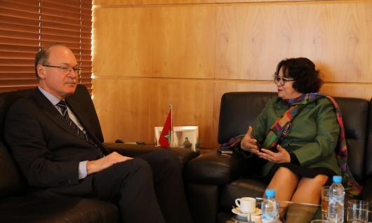 رئيسة الهيأة العليا للاتصال السمعي البصري تجري محادثات مع سفير أوكرانيا بالمغرب