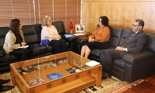 رئيسة الهيأة العليا تجري محادثات مع السيدة كولدا الخوري، مديرة مكتب اليونسكو بالرباط
