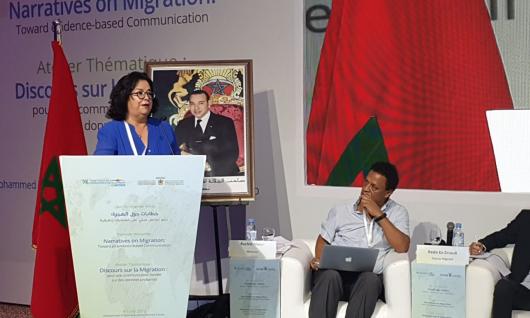 « Les médias peuvent grandement contribuer à changer le regard des sociétés sur la migration » Mme Latifa Akharbach à l'atelier du Global Forum on Migration and Development, Skhirat, le 4 juillet 2019