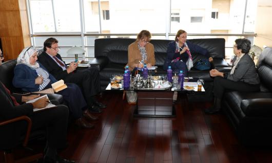 زيارة نائبة الكاتب العام لمجلس أوروبا للهيأة العليا للاتصال السمعي البصري