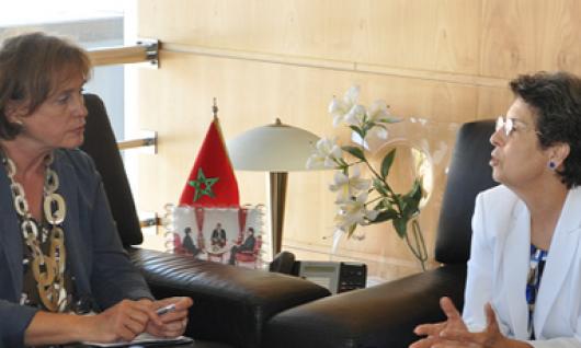 La Presidenta de la HACA recibe la Directora de la Oficina de la Dirección General de los Programas del Consejo de Europa, Sra. Verena Taylor