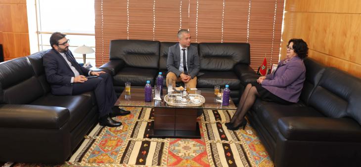 رئيسة الهيأة العليا للاتصال السمعي البصري تستقبل السيد موتونوبو كاساجيما المندوب العام لفيدرالية والوني-بروكسيل بالمغرب