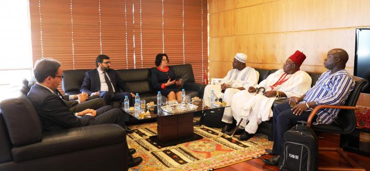Visite d'information à la HACA d'une délégation du Conseil Supérieur de la Communication du Burkina Faso