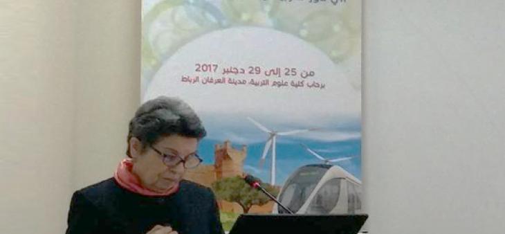 رئيسة الهيأة العليا تشارك في افتتاح الدورة الثانية من الأسبوع البيئي والثقافي الجامعي لكلية علوم التربية