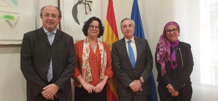 Mme Akharbach s'entretient à Madrid, avec le régulateur national espagnol