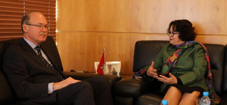 La Présidente de la HACA s'entretient avec l'ambassadeur d'Ukraine au Maroc